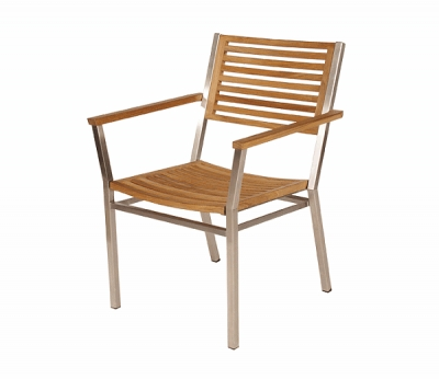 Barlow Tyrie Equinox Stacking Armchair in Teak