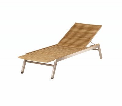 Barlow Tyrie Equinox Stacking Lounger in Teak