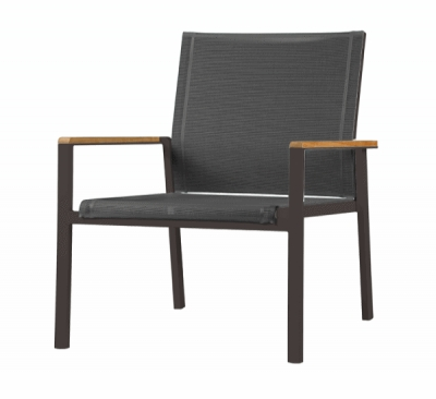 Aura Deep Seating Armchair in Black Charcoal