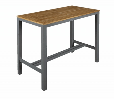 Barlow Tyrie Aura High Dining Table 140 in Graphite